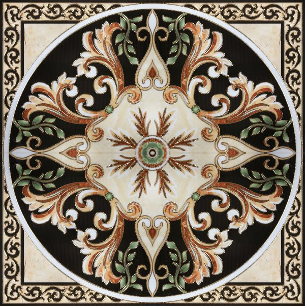 1200x1200 Flur Leaf Medallion